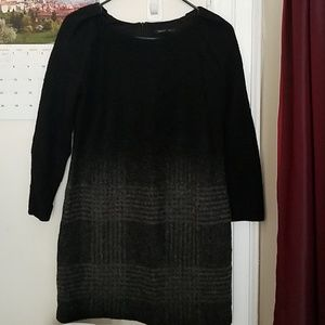 Wool blend dress 3/4 sleeve and lining